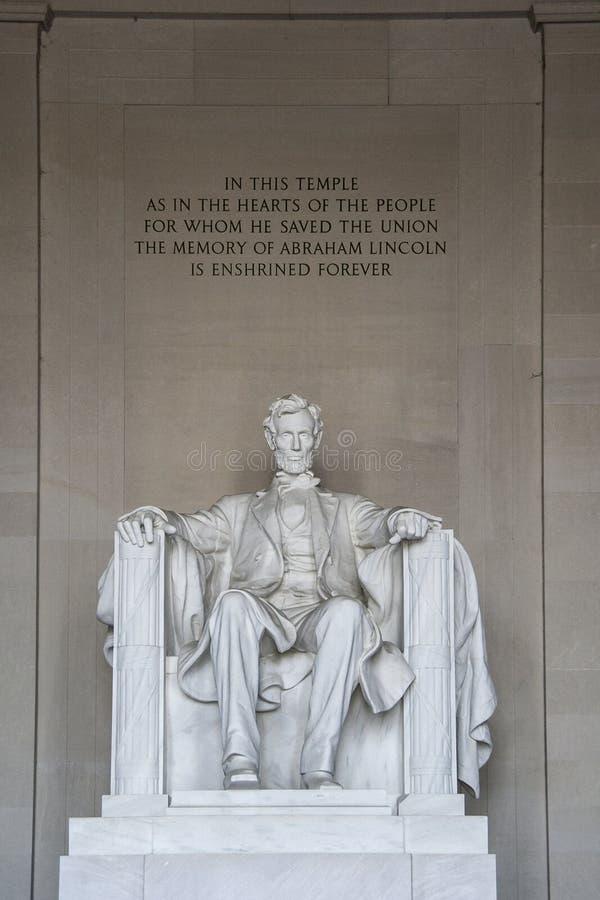 Detalle de Abraham Lincoln Statue en Lincoln Memorial - Washington DC, los E.E.U.U. foto de archivo