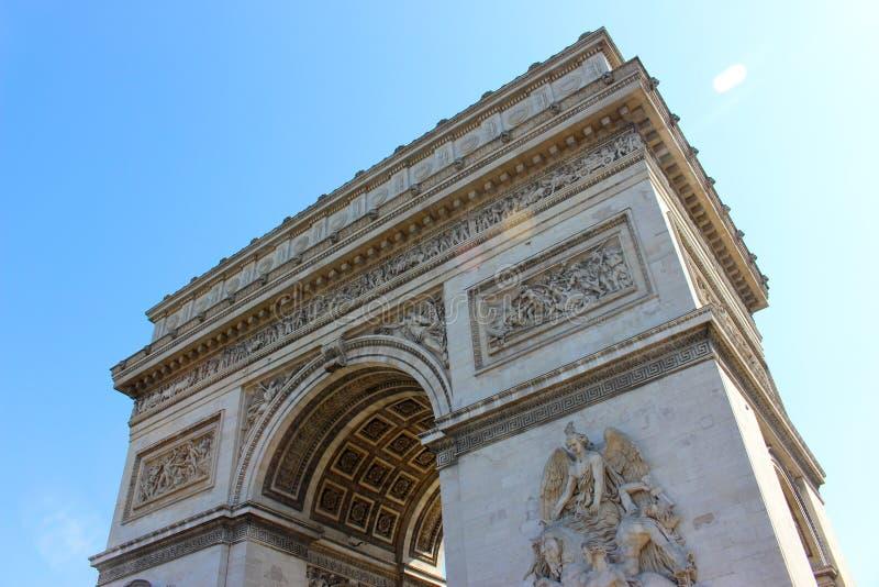 Detalle de Arc de Triomphe en París foto de archivo