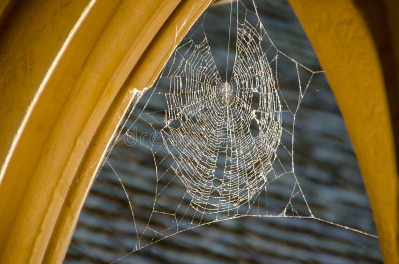 Detalle de arcos con la web de araña en Mont Saint Michael francia imagen de archivo libre de regalías