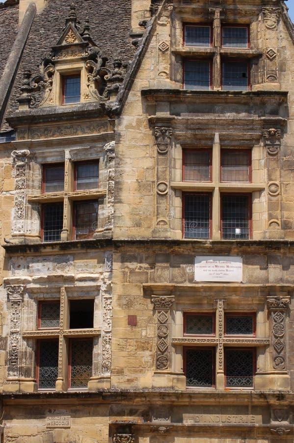 Detalle de edificios viejos en Sarlat fotos de archivo libres de regalías