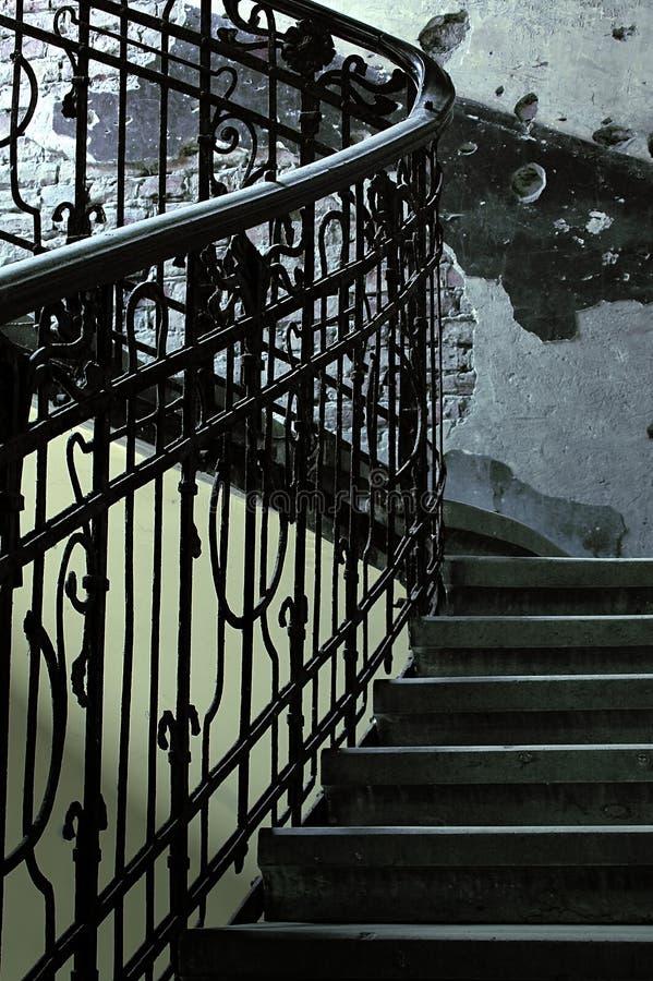 detalle de escaleras rsticas