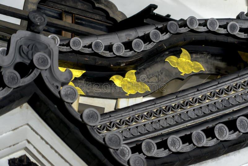 Detalle de Hikone Castle imágenes de archivo libres de regalías