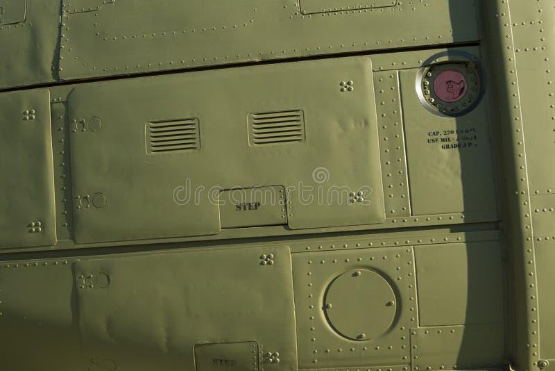 Detalle de Huey Chopper Side Panel foto de archivo libre de regalías