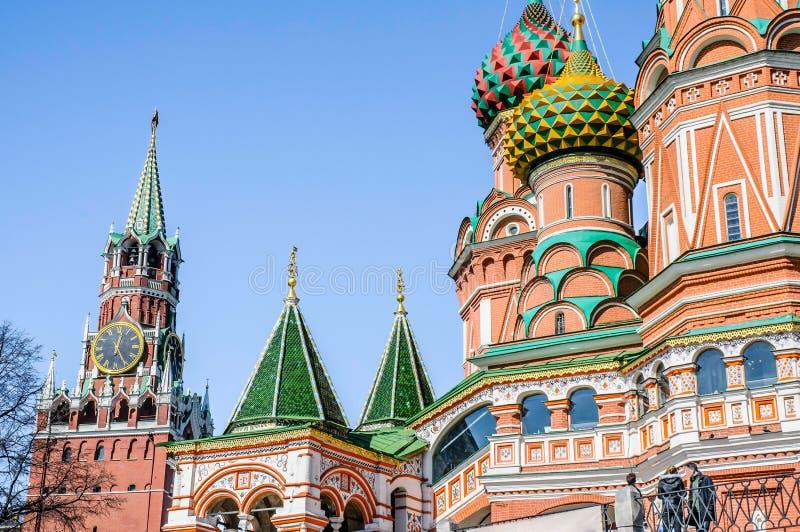 Detalle de la albahaca del santo en Moscú foto de archivo