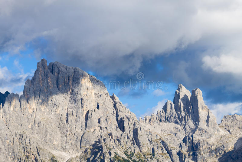 Detalle de la alta montaña foto de archivo