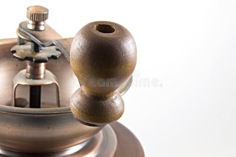 Detalle de la amoladora de café fotografía de archivo