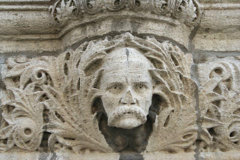 Detalle de la arquitectura de la piedra caliza imagen de archivo