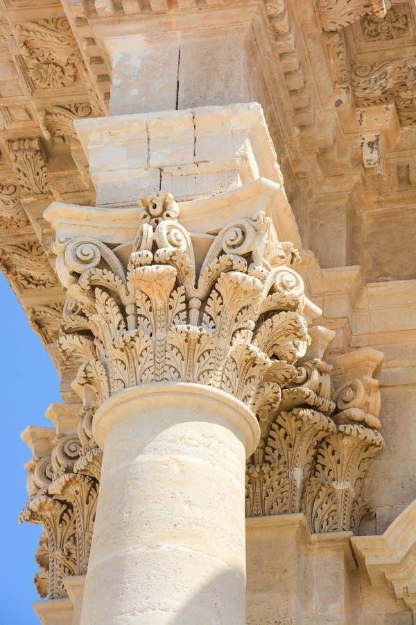 Detalle de la arquitectura del capital imagenes de archivo