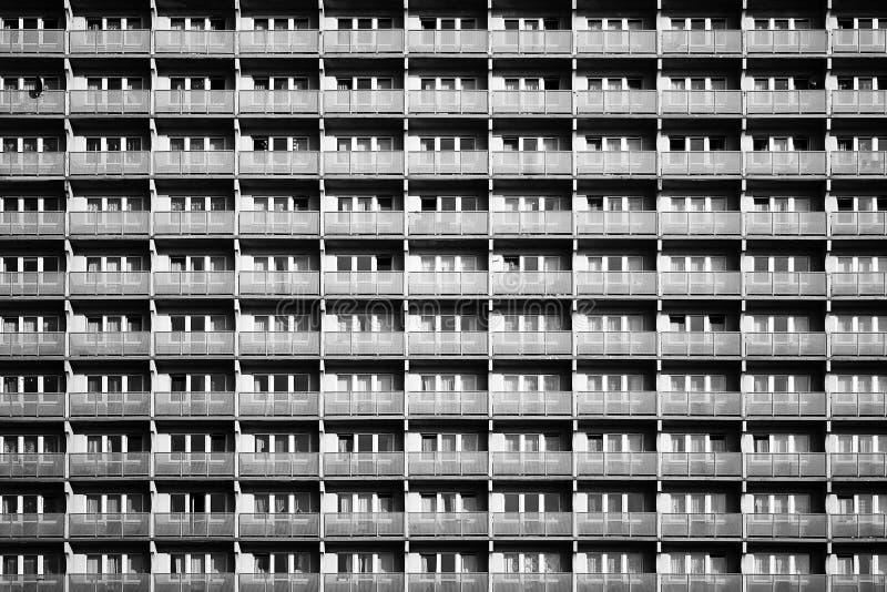Detalle de la arquitectura del edificio residencial imágenes de archivo libres de regalías