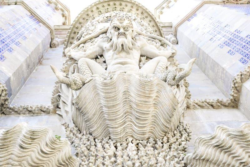Detalle de la arquitectura del palacio de Pena, en Sintra, Lisboa imágenes de archivo libres de regalías