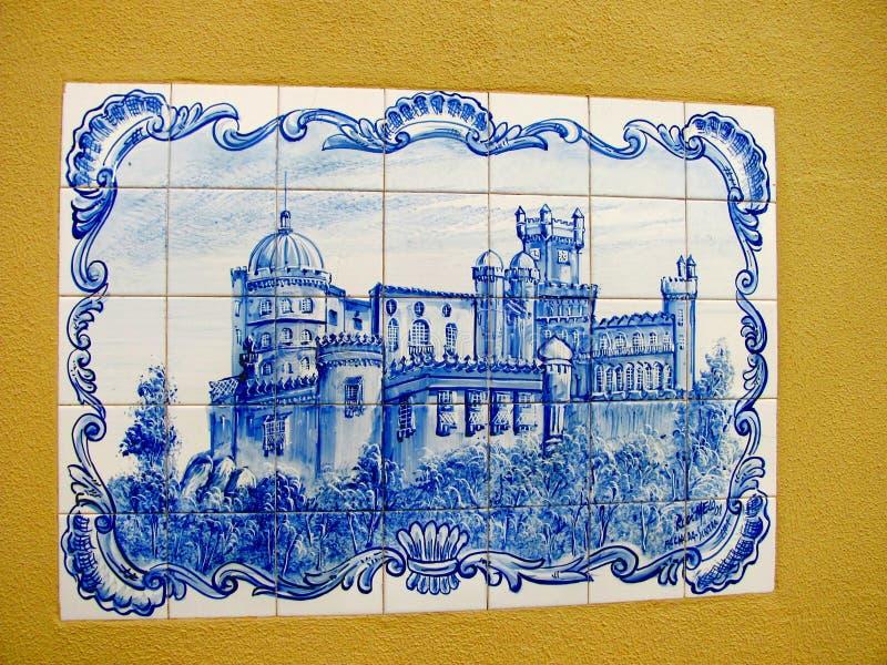 Detalle de la arquitectura del palacio de Pena, en Sintra, Lisboa imagenes de archivo