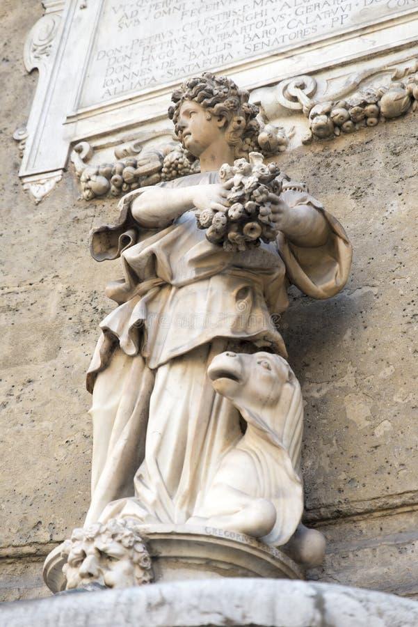 Detalle de la arquitectura en Palermo imagen de archivo