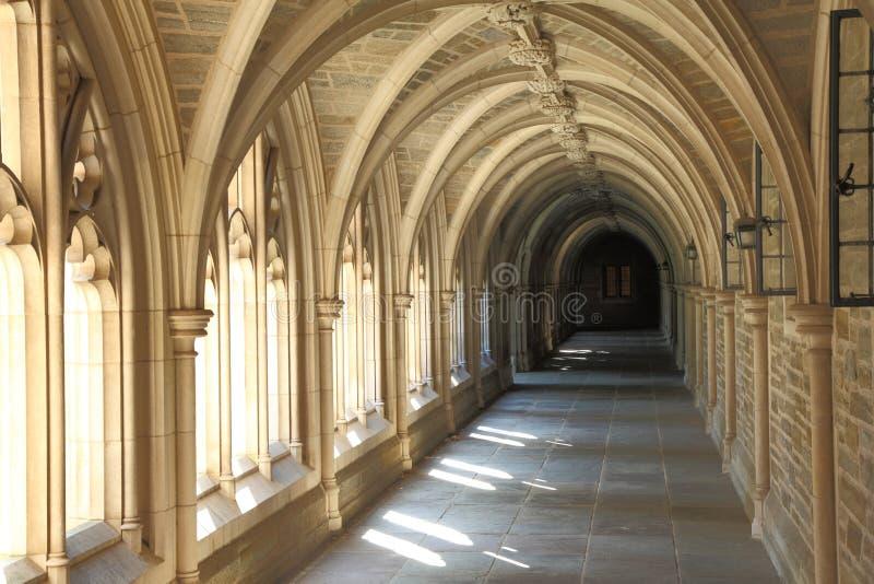 Detalle de la arquitectura en Universidad de Princeton imagenes de archivo