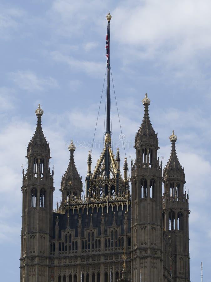Detalle de la arquitectura, palacio de Westminster, Londres fotografía de archivo