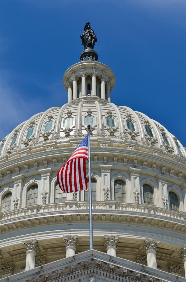 Detalle de la bóveda del edificio del capitolio de los E.E.U.U., Washington DC, los E.E.U.U. imagen de archivo