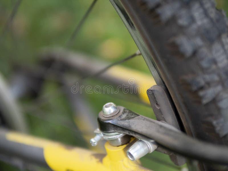 Detalle de la bicicleta del camino aislado fotografía de archivo libre de regalías