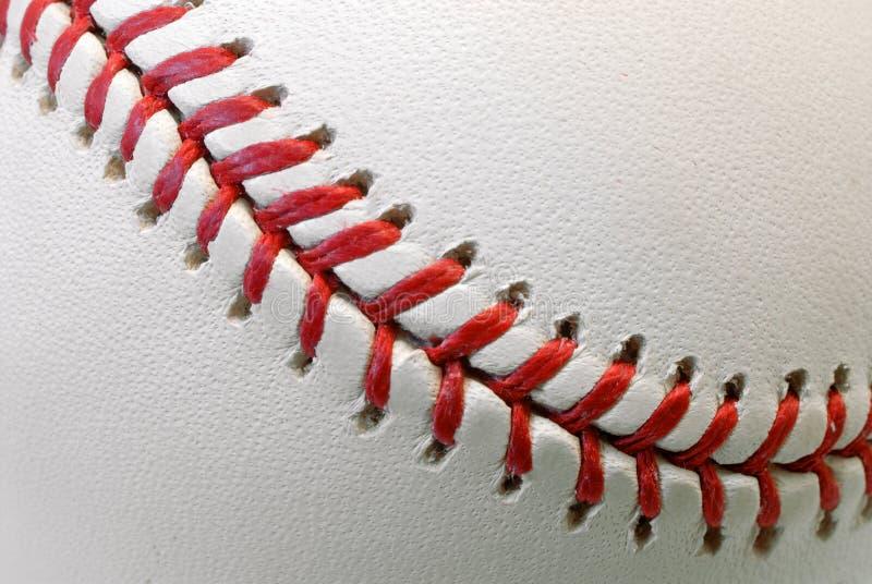 Detalle de la bola del béisbol foto de archivo