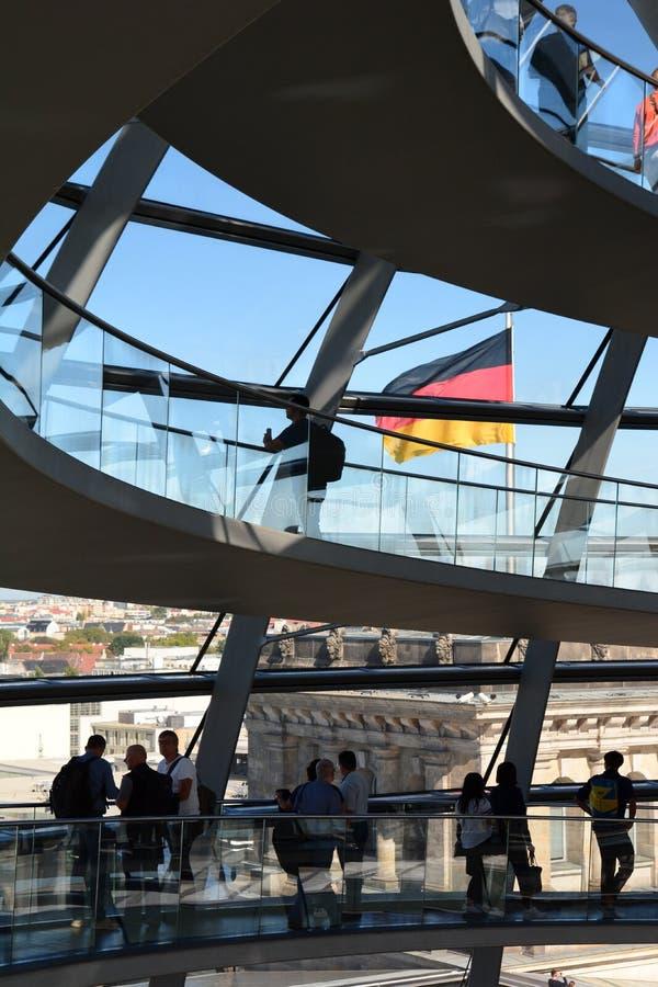Detalle de la cúpula de cristal Reichstag. berl?n. alemania imágenes de archivo libres de regalías