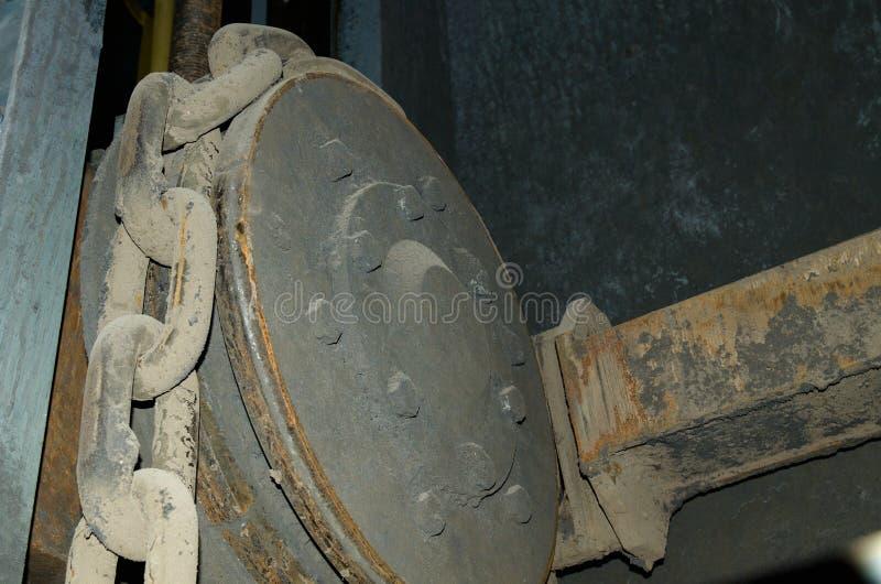 Detalle de la cadena del engranaje foto de archivo