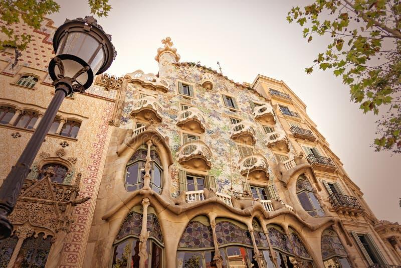 Detalle de la casa Batllo - Barcelona - España fotografía de archivo
