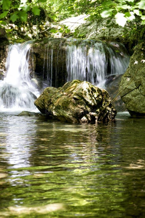 Detalle de la cascada imagen de archivo
