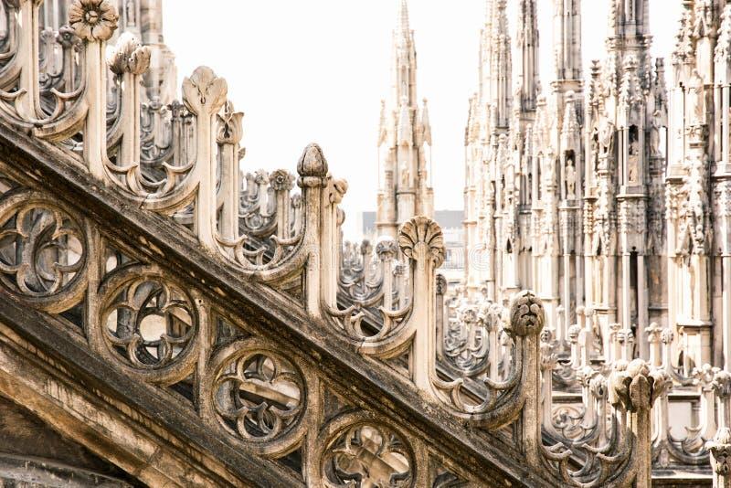 Detalle de la catedral de Milán (di Milano), Italia del Duomo imagen de archivo libre de regalías