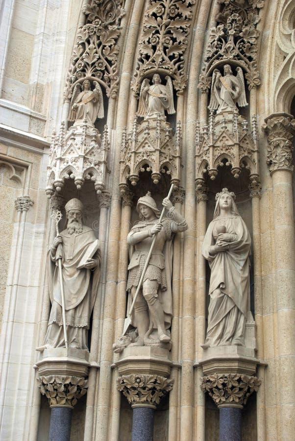 Detalle de la catedral de Zagreb foto de archivo libre de regalías