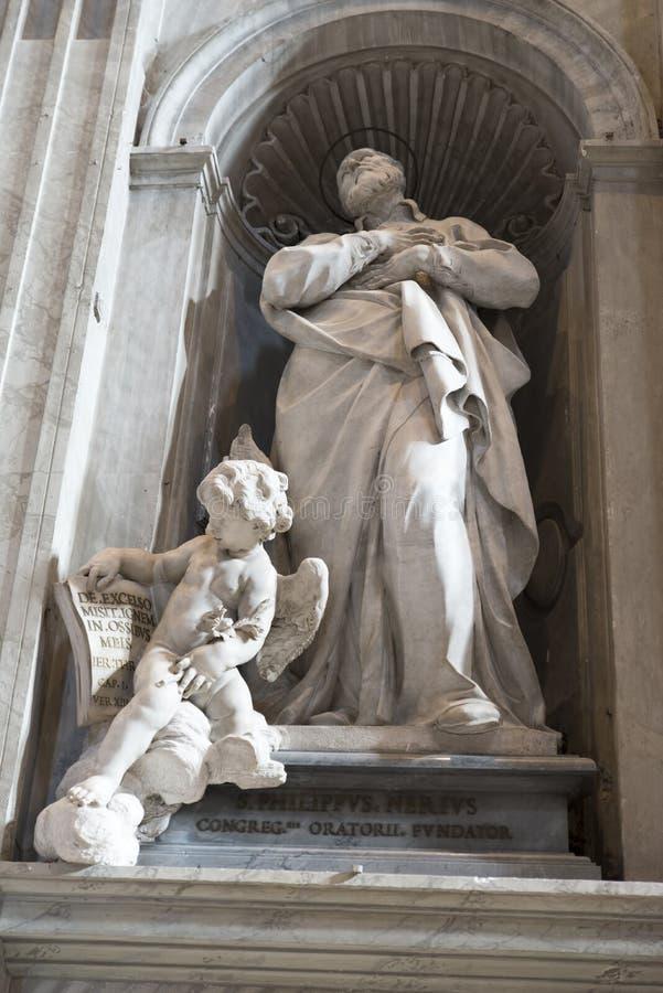 Detalle de la Ciudad del Vaticano de la basílica de San Pedro fotografía de archivo libre de regalías