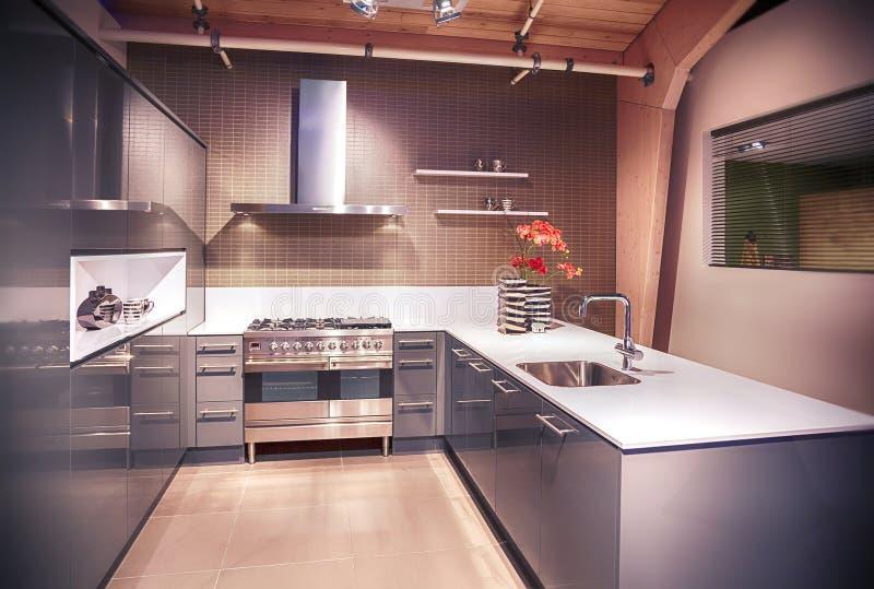 Detalle de la cocina moderna fotos de archivo