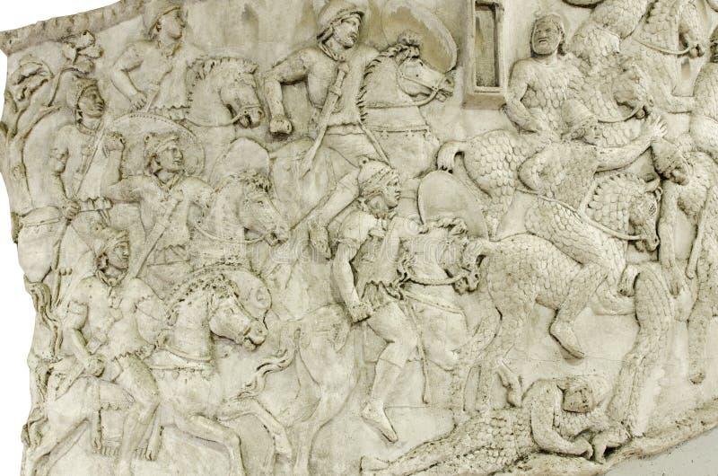 Detalle de la columna de Trajan imagenes de archivo