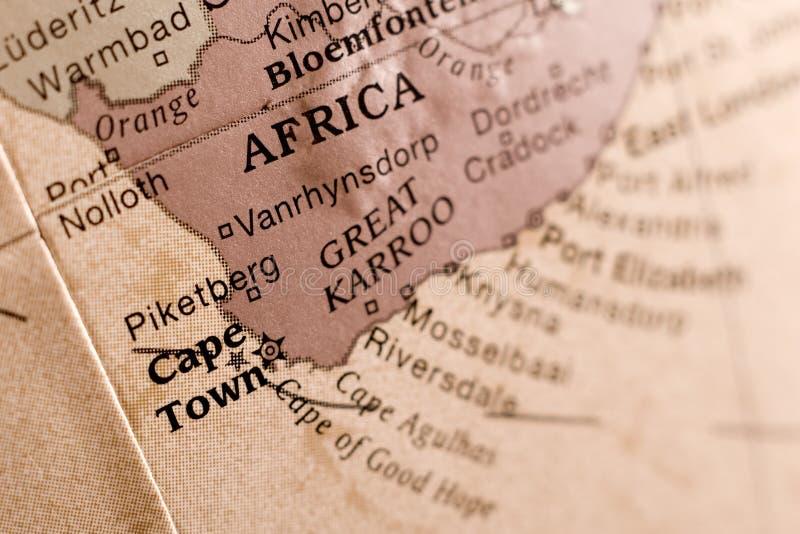 Detalle de la correspondencia de Ciudad del Cabo imagen de archivo libre de regalías