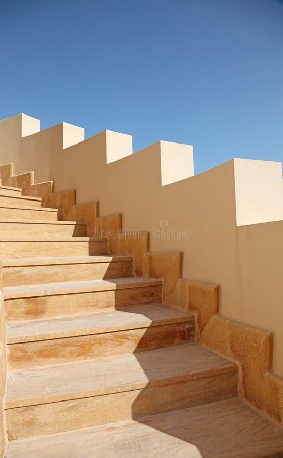 Detalle de la escalera, Doha, Qatar imagen de archivo