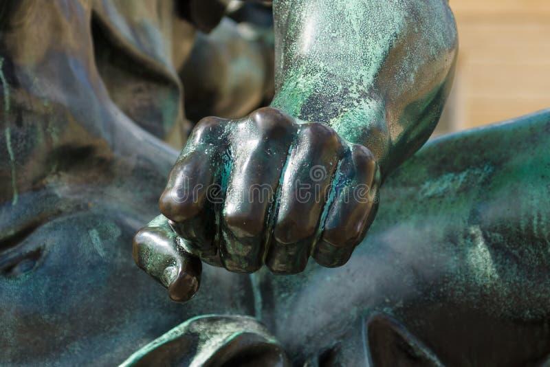 Detalle de la escultura imagen de archivo