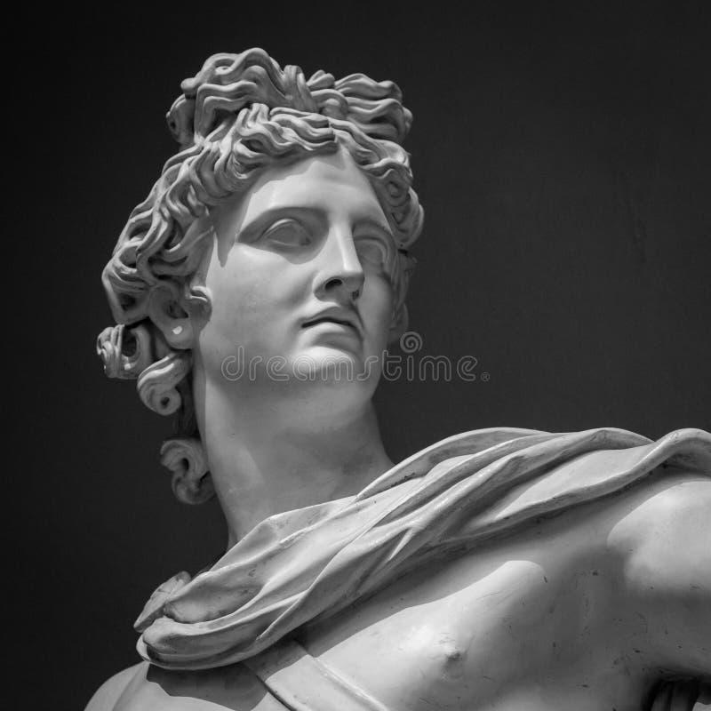 Detalle de la estatua de Apollo Belvedere fotografía de archivo libre de regalías