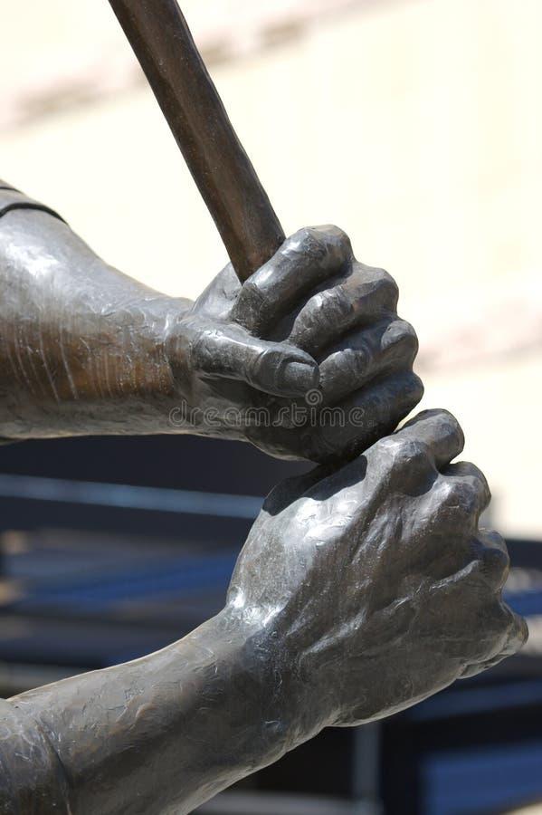 Detalle de la estatua del béisbol fotografía de archivo libre de regalías