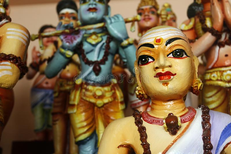 Detalle de la estatua en templo hindú imágenes de archivo libres de regalías