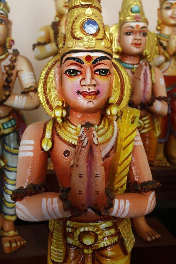 Detalle de la estatua en templo hindú fotografía de archivo