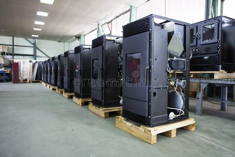 Detalle de la fábrica de la estufa imagen de archivo libre de regalías