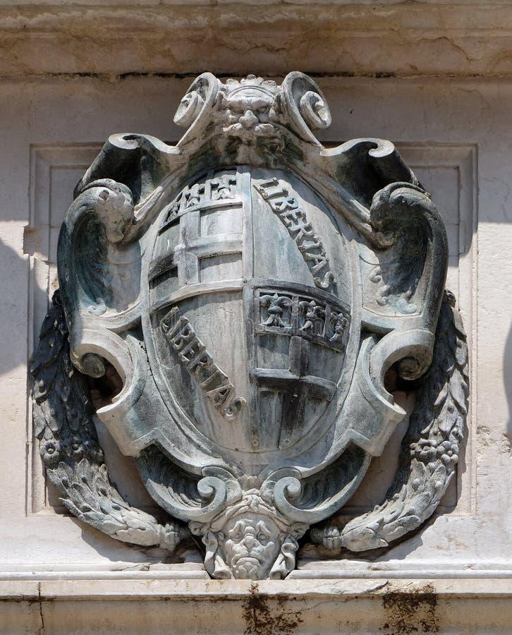 Detalle de la fuente de Neptuno en Bolonia, Italia fotografía de archivo libre de regalías