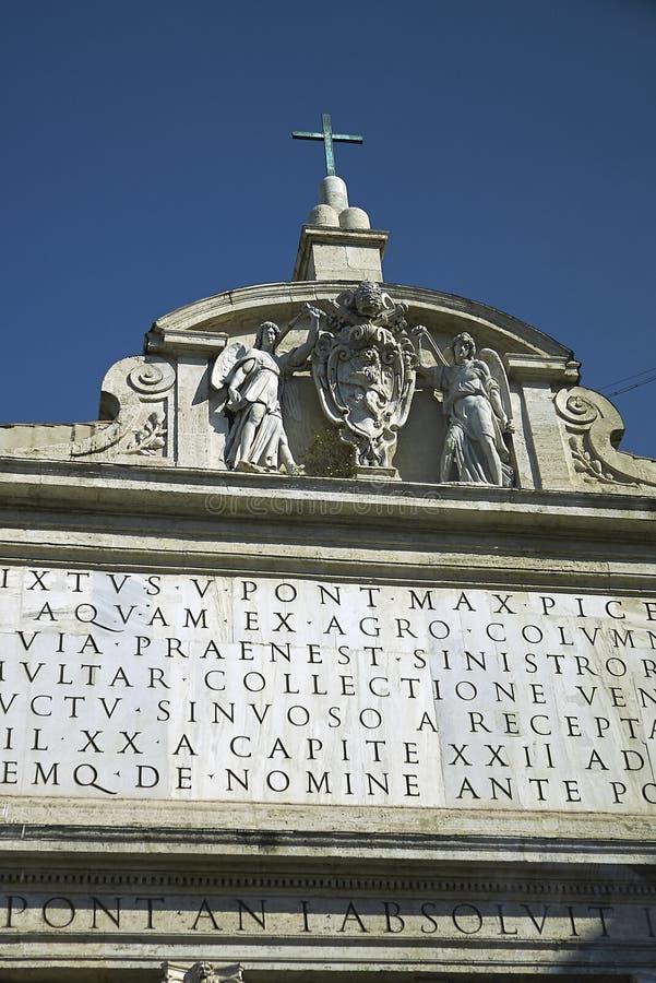 Detalle de la fuente de Moses imagen de archivo