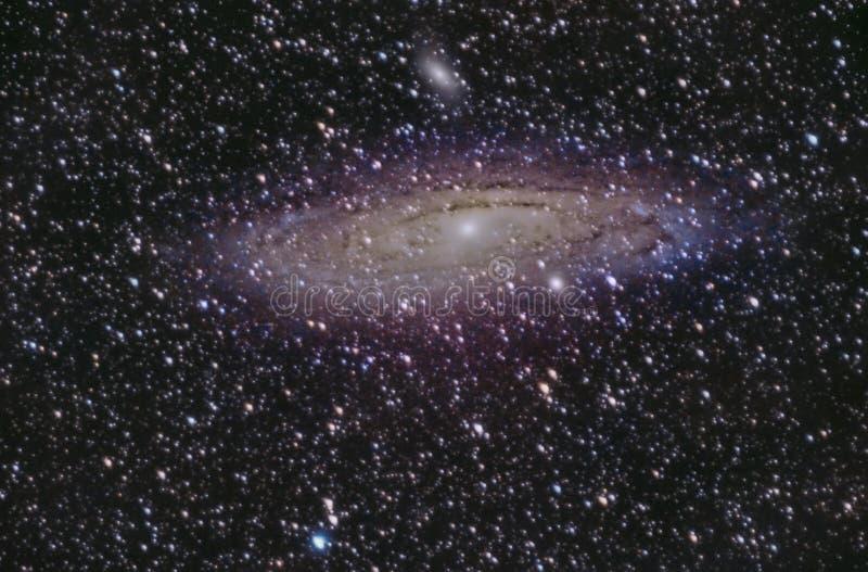 Detalle de la galaxia del Andromeda en Palencia fotografía de archivo