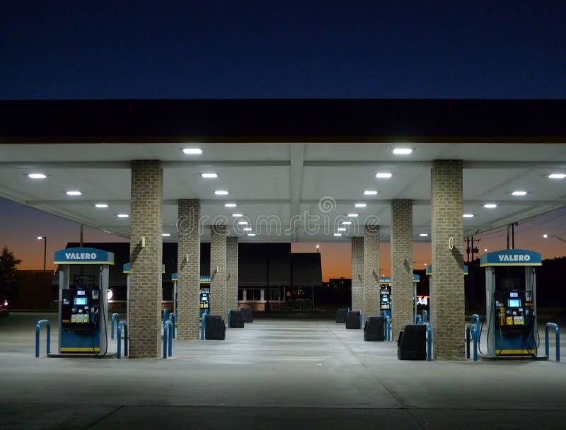Detalle de la gasolinera de Valero, Fort Smith, Arkansas foto de archivo libre de regalías