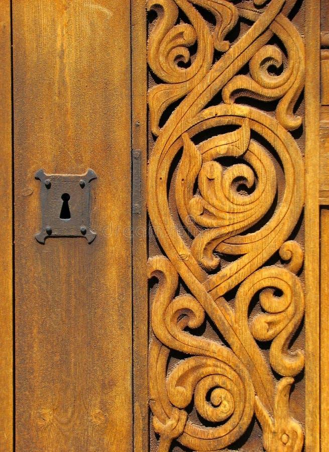 Detalle de la iglesia del bastón de Heddal fotos de archivo libres de regalías