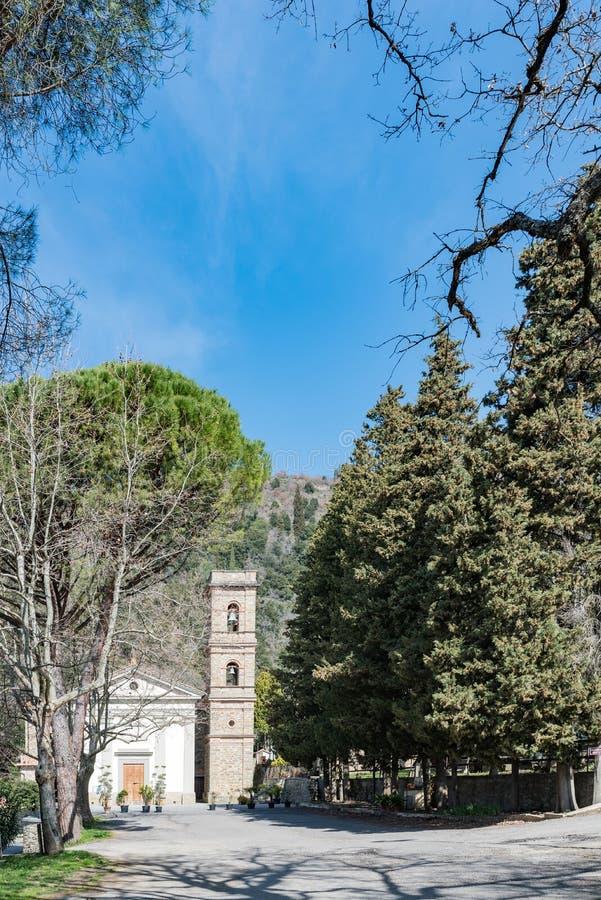 Detalle de la iglesia del santuario del baño en Castiglione imagen de archivo