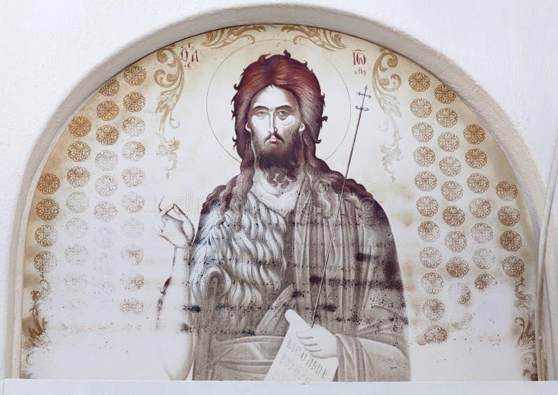 Detalle de la iglesia griega ortodoxa en la isla de Paros, Cícladas, Grecia foto de archivo libre de regalías