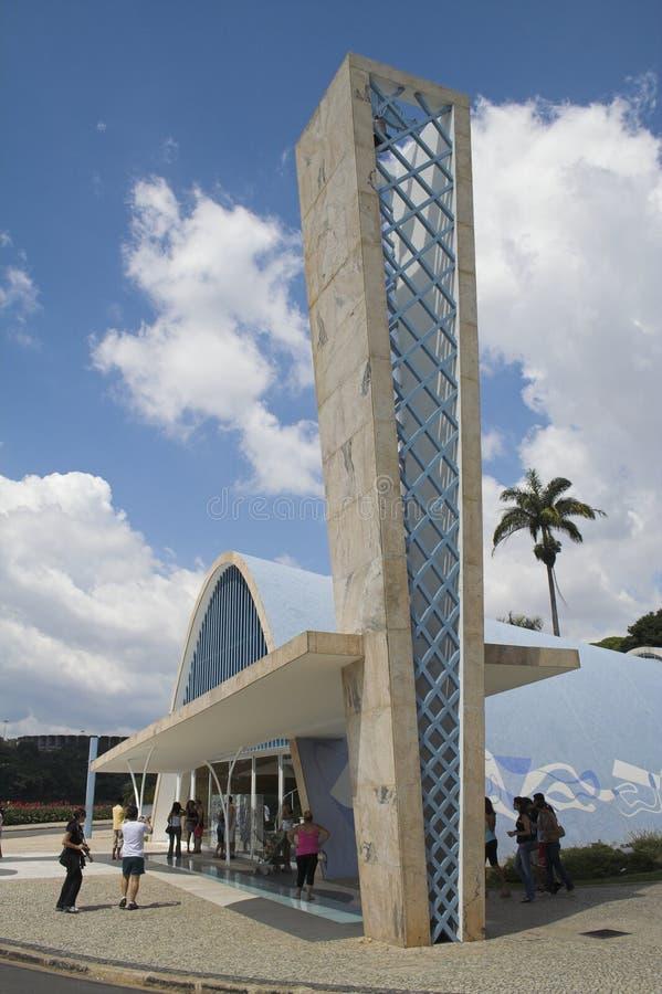 Detalle de la iglesia Pampulha de Sao Francisco imagen de archivo libre de regalías