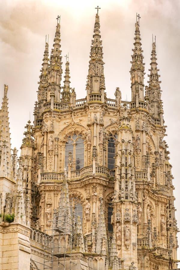 Detalle de la linterna de la catedral de Burgos imagen de archivo
