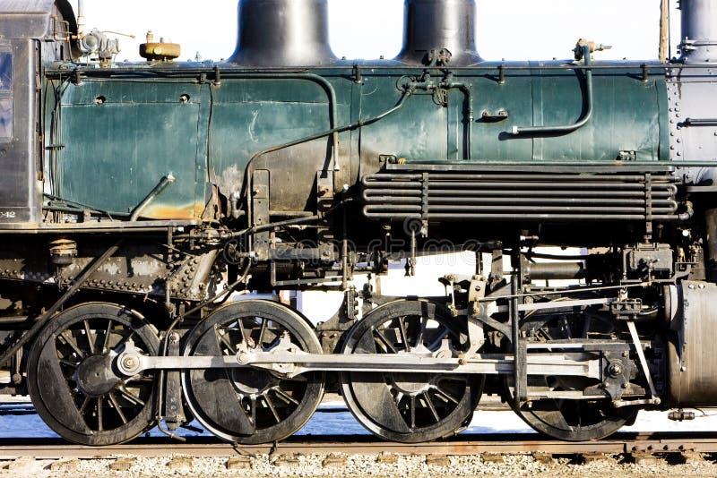 detalle de la locomotora de vapor, Alamosa, Colorado, los E.E.U.U. imagen de archivo