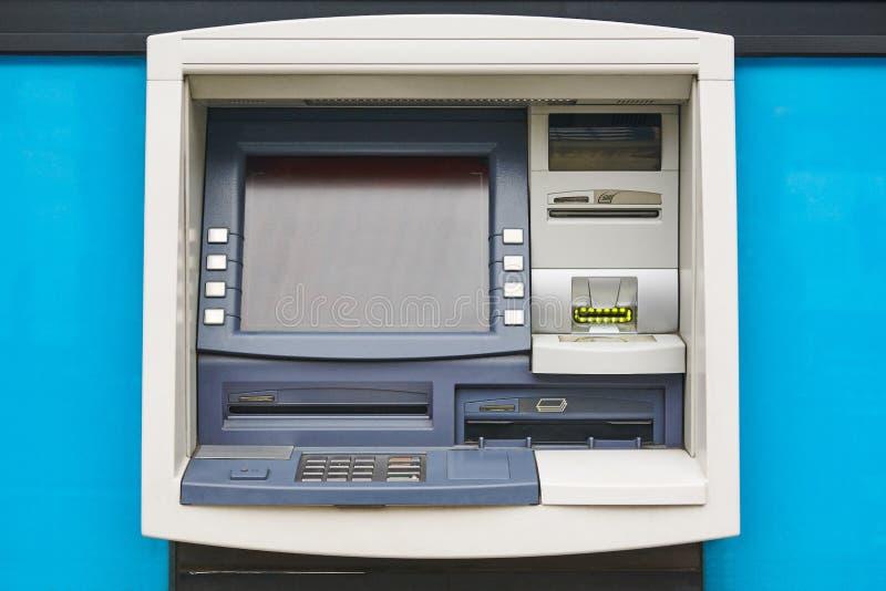 Detalle de la máquina de la atmósfera cashpoint Transacción financiera y bancaria imágenes de archivo libres de regalías