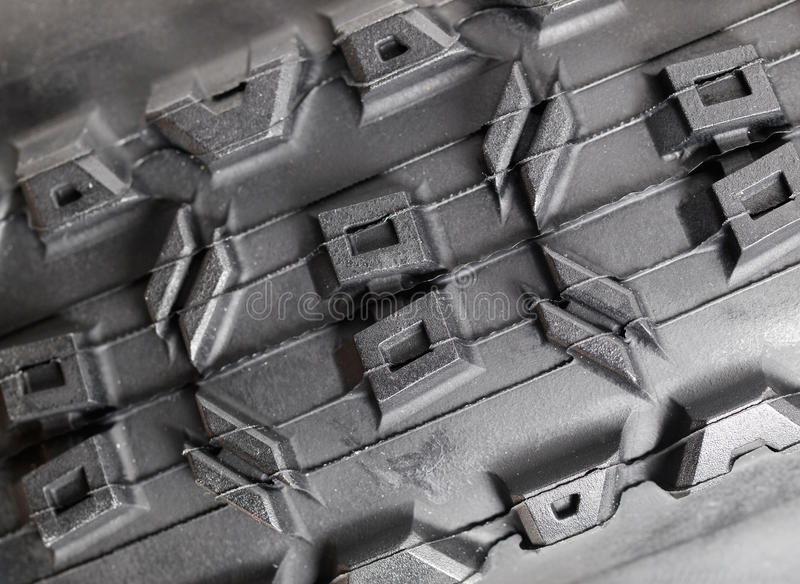 Detalle de la macro del neumático de la bici fotografía de archivo libre de regalías
